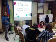 Joel Lasam facilitating the discussion